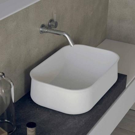 Modern Design Counter Top Rectangular White Bathroom Washbasin - Tulyp2