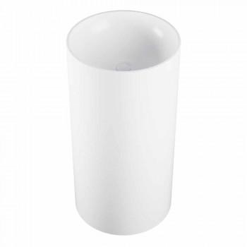 Cylindrical freestanding floor washbasin produced in Italy, Rumo