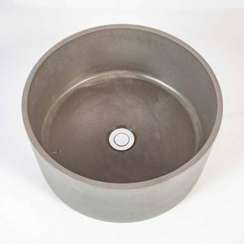 Rivoli design circular countertop washbasin in cement