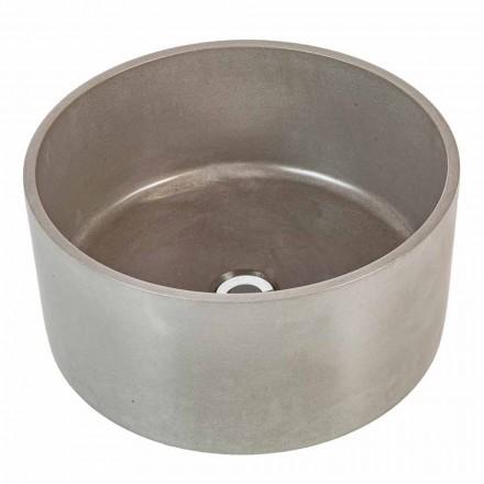 Design circular countertop washbasin in cement Rivoli