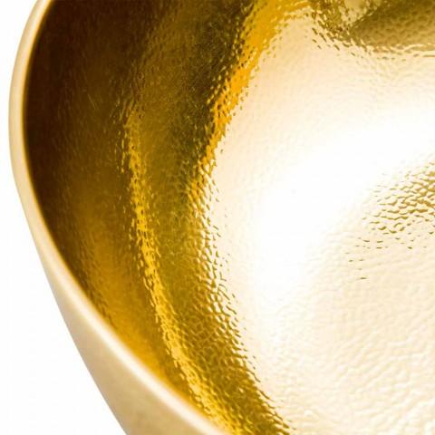 Modern Bowl Counter Top Washbasin in Polished Brass - Babaevo