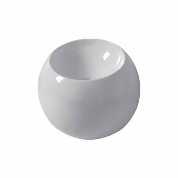 Ball-shaped countertop washbasin in colored ceramic tile