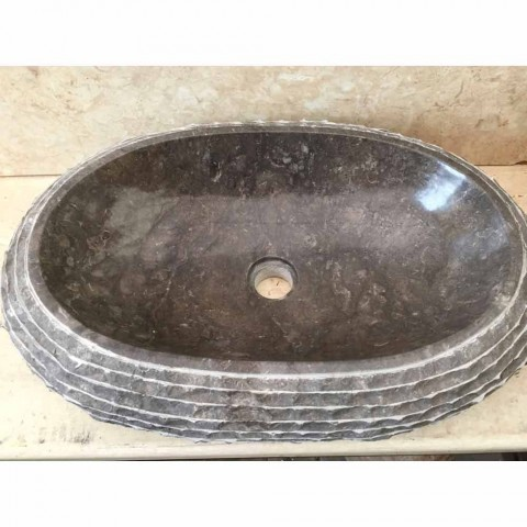 Ewa dark gray washbasin, one piece
