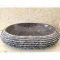 Countertop basin color dark grey Ewa, unique piece of design