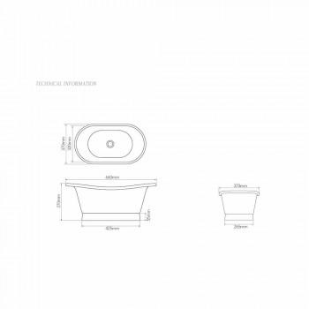 Washbasin finished in white iron and verdigris Cala