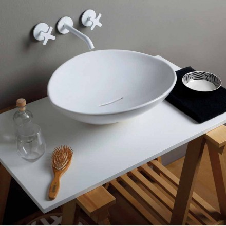 Modern design ceramic countertop basin Animals, made in Italy