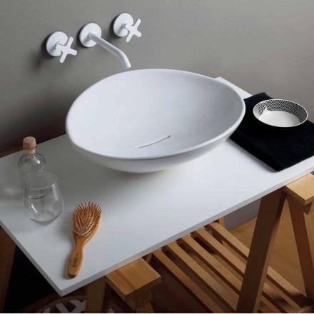 Modern design ceramic countertop basin Animals, made in Italy