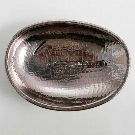 Silver ceramic countertop basin Glossy, modern design made in Italy