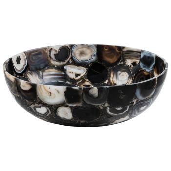 Design countertop washbasin in River agate stone, unique piece