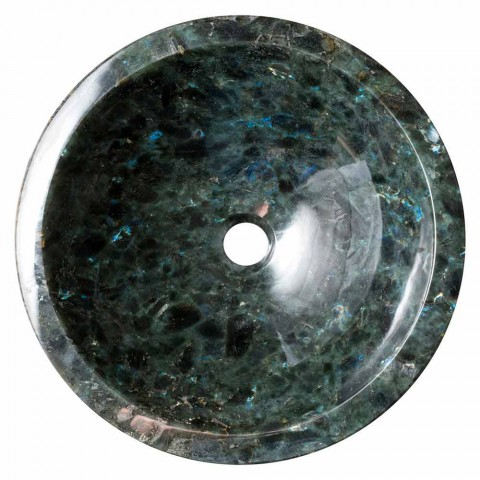 Countertop design washbasin in labradorite Zero stone