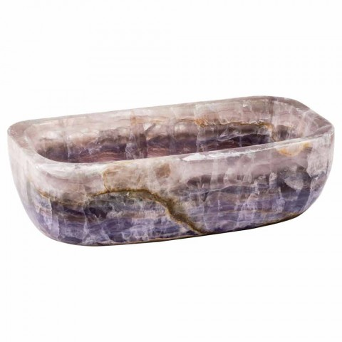 Design countertop washbasin in Winona onyx stone, handmade