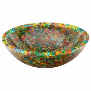 Design countertop washbasin in artificial resin and Nita quartz