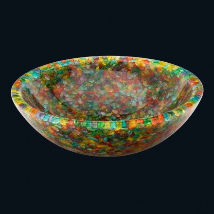 Design countertop washbasin in artificial resin and quartz Nita