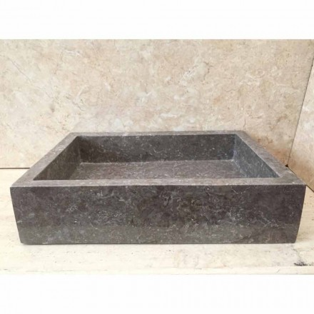 Grey natural stone washbasin Jef, unique piece