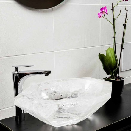 Handmade Countertop Washbasin in Rock Crystal – Falvaterra