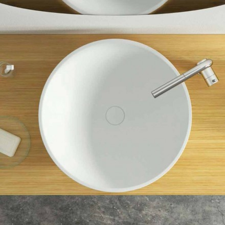 Modern design circular countertop washbasin made in Italy, Donnas