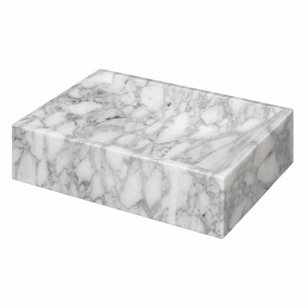 Squared Marble of Carrara Countertop Washbasin Ma de in Italy – Canova