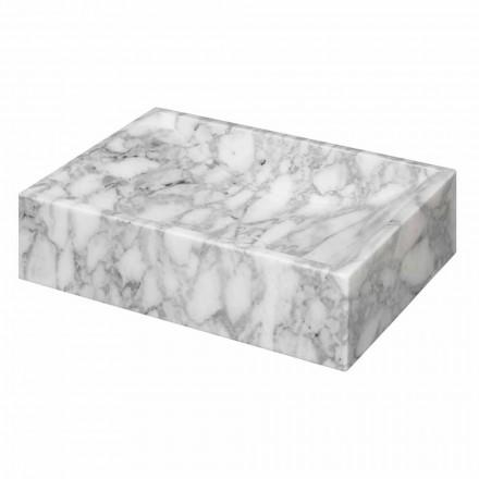 Squared Marble of Carrara Countertop Washbasin Ma de in Italy – Canova