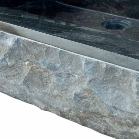 Washbasin naturally Sam Black Stone, one piece