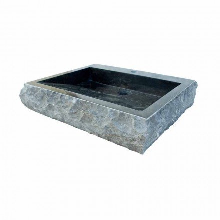 Black natural stone washbasin Sam, unique piece
