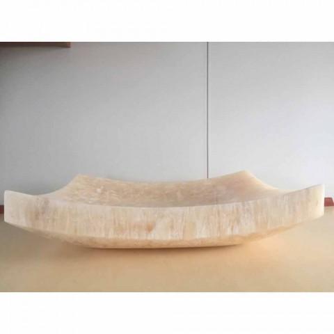 Onyx natural stone washbasin Love, unique piece