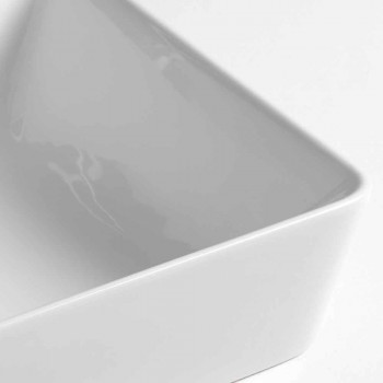 Countertop Washbasin L 60 cm with tap hole Made in Italy ceramic - Rotolino