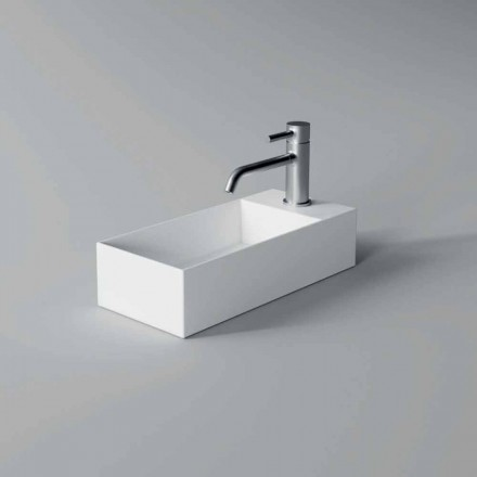 Rectangular Ceramic Counter Top Washbasin Made in Italy - Act