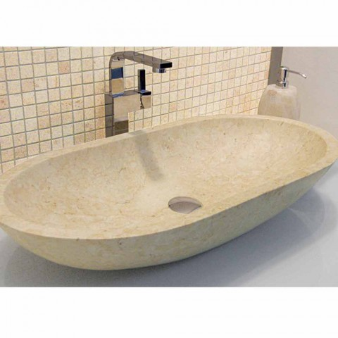 Countertop Support Oval Stone Natural Beige Riau