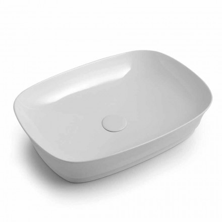 Rectangular Ceramic Countertop Washbasin Made in Italy - Zarro