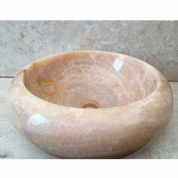 Arlie single piece onyx countertop washbasin, handmade