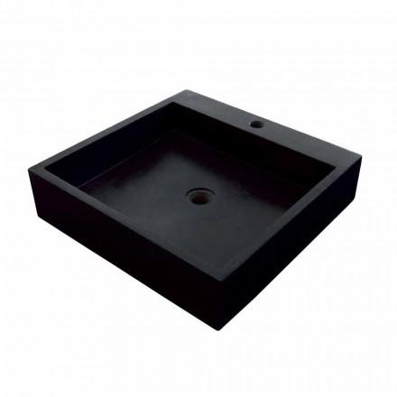 Natural black stone square Countertop washbasin Ban