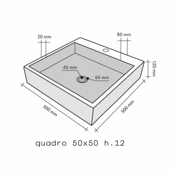 Countertop Support Square Onyx Ban