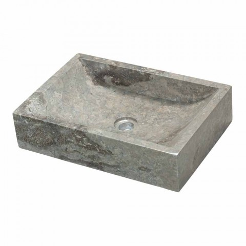 Countertop Support Square in Natural Stone Grey Jakarta