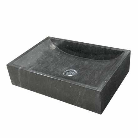 Natural black stone countertop washbasin Jakarta
