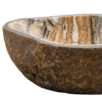 Countertop washbasin handmade in river stone, Palata