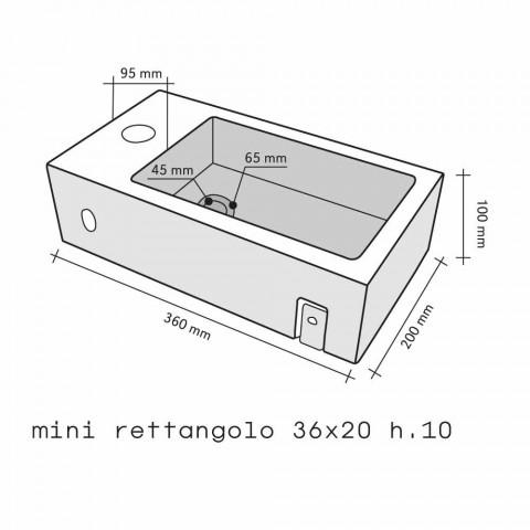 Countertop Support Rectangular Onyx Bintan