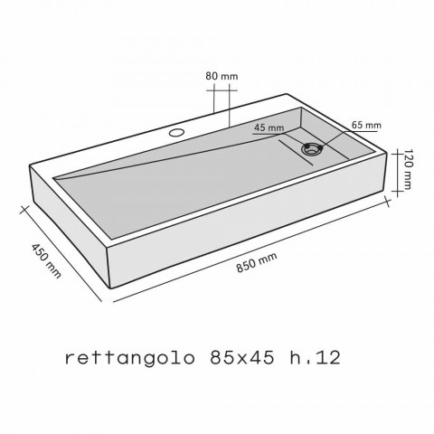 Countertop Support Rectangular Onyx Chao