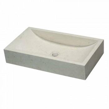 Countertop Support Rectangular Stone Natural White Satun