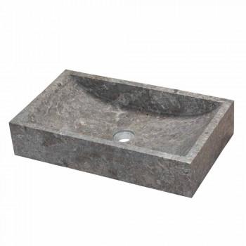 Countertop Washbasin Satun In Natural Grey Stone
