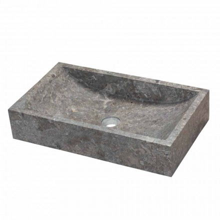 Grey marble rectangular countertop washbasin Satun