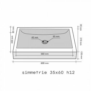 Countertop Support Rectangular Stone Natural Black Satun