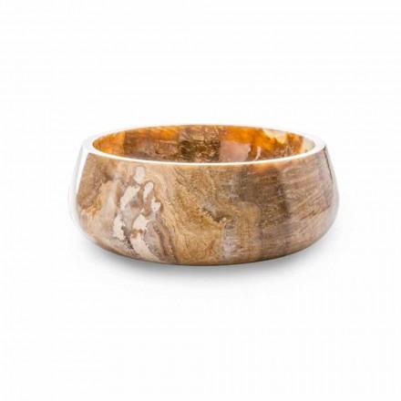 Round Countertop Washbasin in Pure Onyx Unique Design - Ramiro