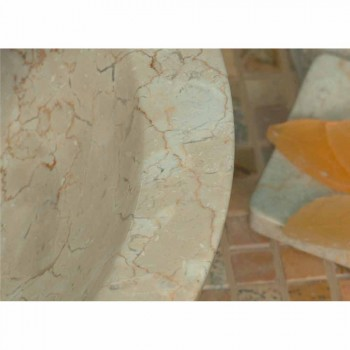 Countertop Support Round Stone Natural Beige Outside Raw Pai