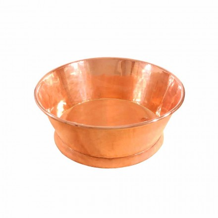 Round countertop wash basin made of copper Ania