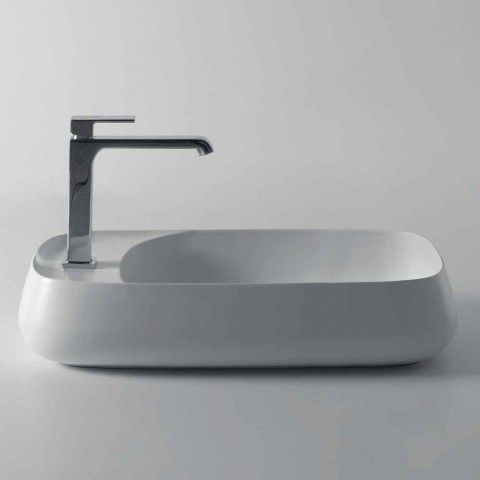 Bathroom countertop washbasin in ceramic L 80cm made in Italy, Gaiola