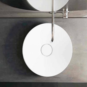 Freestanding round design washbasin made in Italy Crema