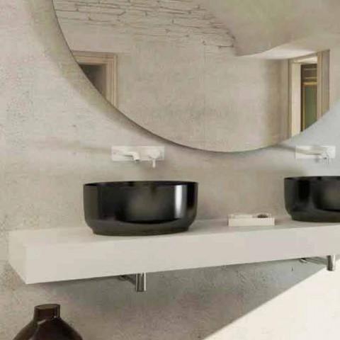 Modern design round washbasin freestanding made Italy Dalmine