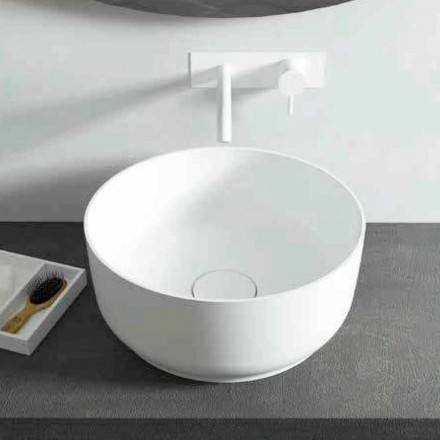 Modern design round countertop washbasin, made in Italy Dalmine