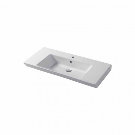 Countertop or wall insert sink in white or colored ceramic Maida
