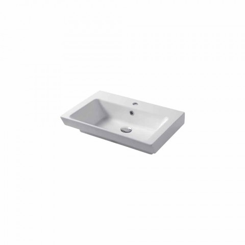 Built-in Washbasin and Support in White Ceramic or Colored Maida